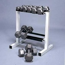CAP 150 lb Hex Dumbbell Set (5-25 lbs in 5 lb increments with Rack
